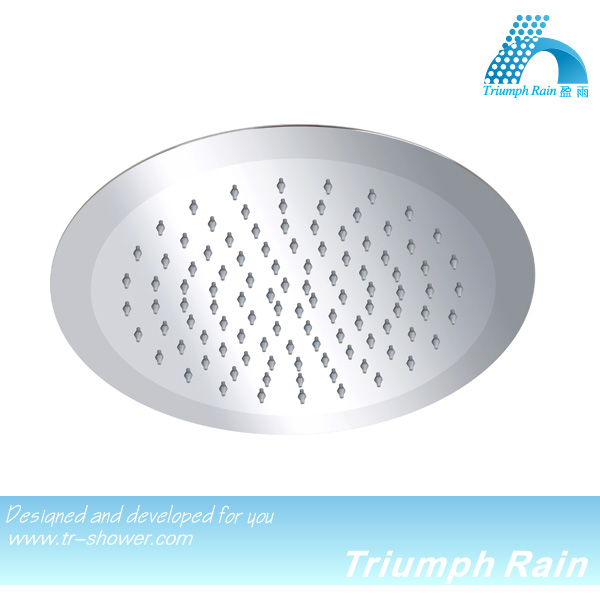new stainless steel 3d edge round water saving shower head/bathroom accesories
