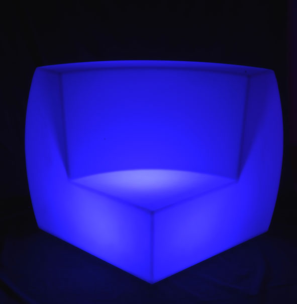 PE modern waterproof led lounge sofa furniture with led light for living room
