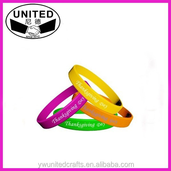 Colorful silicone rubber bands/ custom silicone rubber bangles/ cheap silicone rubber bands
