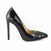 XG365 ladies office wide width high heel shoes for women