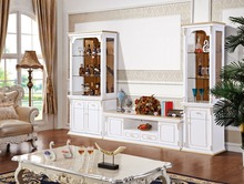 Living Room Furniture white color Lcd TV Wall Units