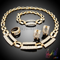 2015 HOT sale jewelry sets 24k gold plated jewelry set Jewelry settings catalog