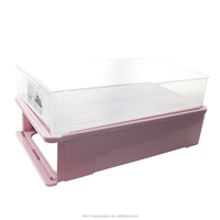 Taizhou Hengming heavy duty plastic box flat bottom storage containers box for toys