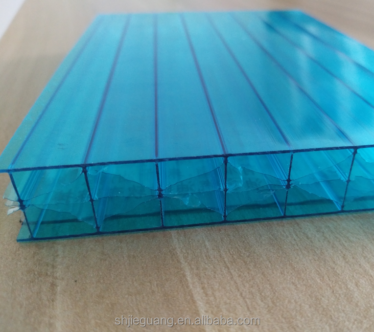 UV resistant X-structure polycarbonate sheet used as bus stop building materials polycarbonate