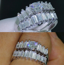 925 sterling silver cheap rings for engagement,2014 new arrived yellow gold wedding ring set