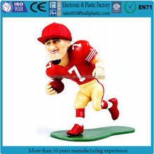 Manufacture 3d pvc plastic footballers sports man players miniature toy figures