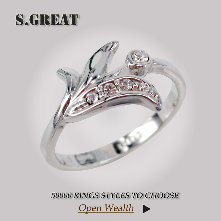 finger cheap wholesale women wedding ring for gril