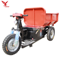 double motor dumper/3 wheel dumper tricycle/mini dumperelectric tricycle for cargo