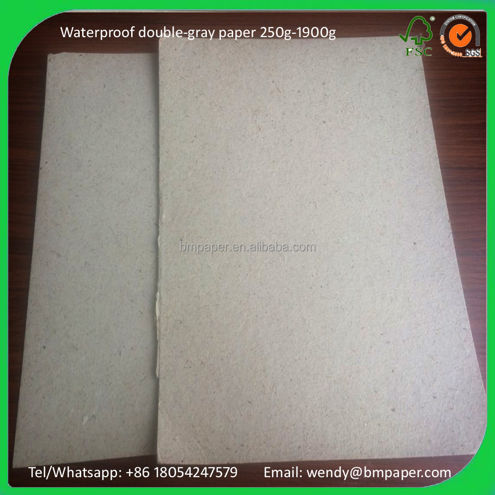 recycled construction waterproof cardboard paper 250-1900gsm