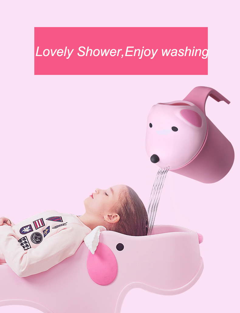 Shower air washing kids and baby shampoo rinse cup