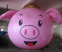 2014 hot sale pink pig costume adults