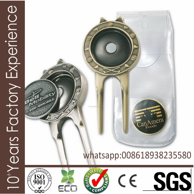 US636 Plastic customized logo golf trail divot tool made in China