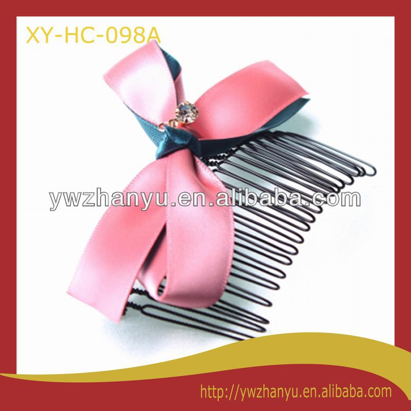 fashion hair accessories decorative bow hair comb