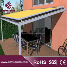 Glass conservatory awnings canopies top roof system