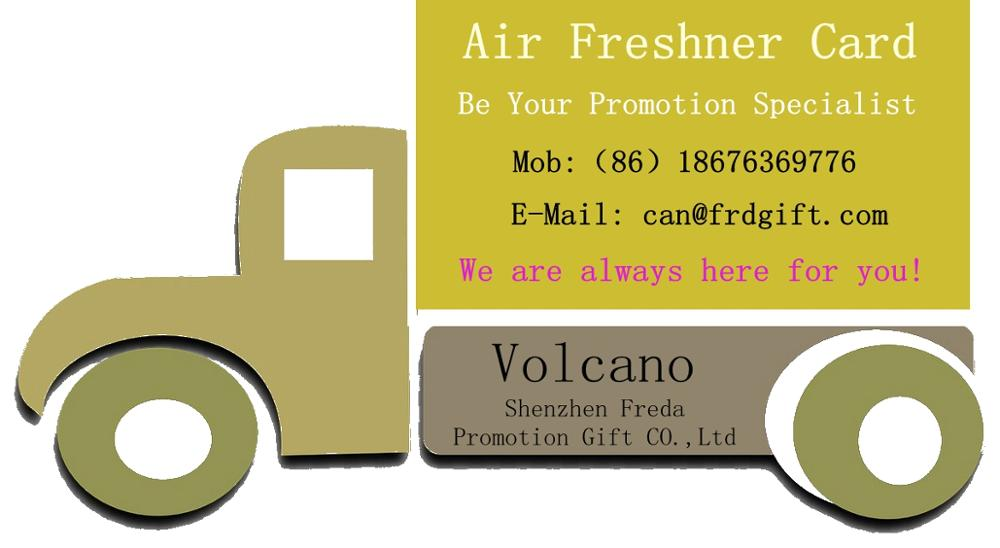Promotional gifts paper car air freshener for campus activities