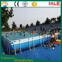 Rectangular Frame Pool, inflatable adult swimming pool, portable swimming pool