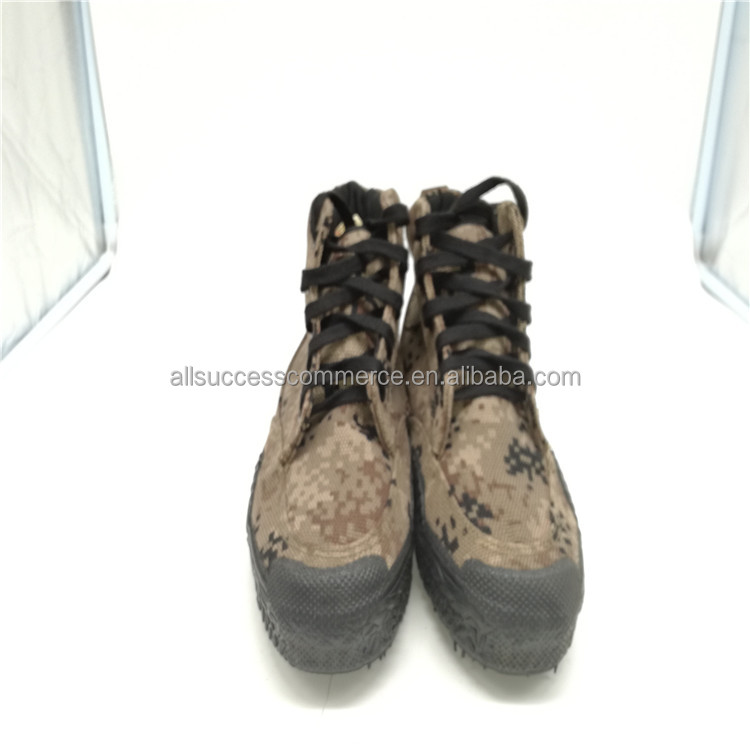 Beautiful style men's outdoor tactcial military camouflage shoe rubber boots