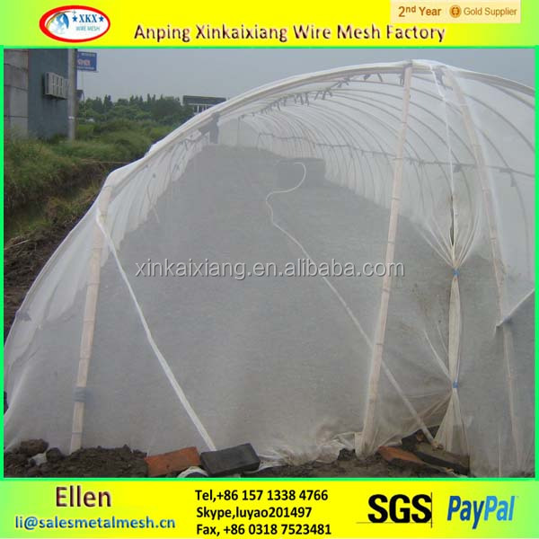 Cheap! plastic greenhouse net/insect hat net/greenhouse insect net made in China