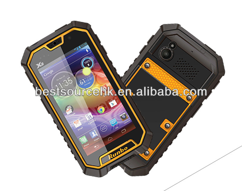 Runbo X6 Rugged Phone 4.5 Inch IP67 MTK6589 waterproof Quad Core Android Runbo X6 Rugged phone