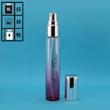 Pocket sized small deodorant refillable clear 5ml 10ml 15ml perfume glass fine mist spray bottle