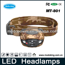 Led camouflage head lamp for outdoor camping