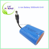 High discharge rate 6.4v 3000mah lithium iron phosphate battery pack
