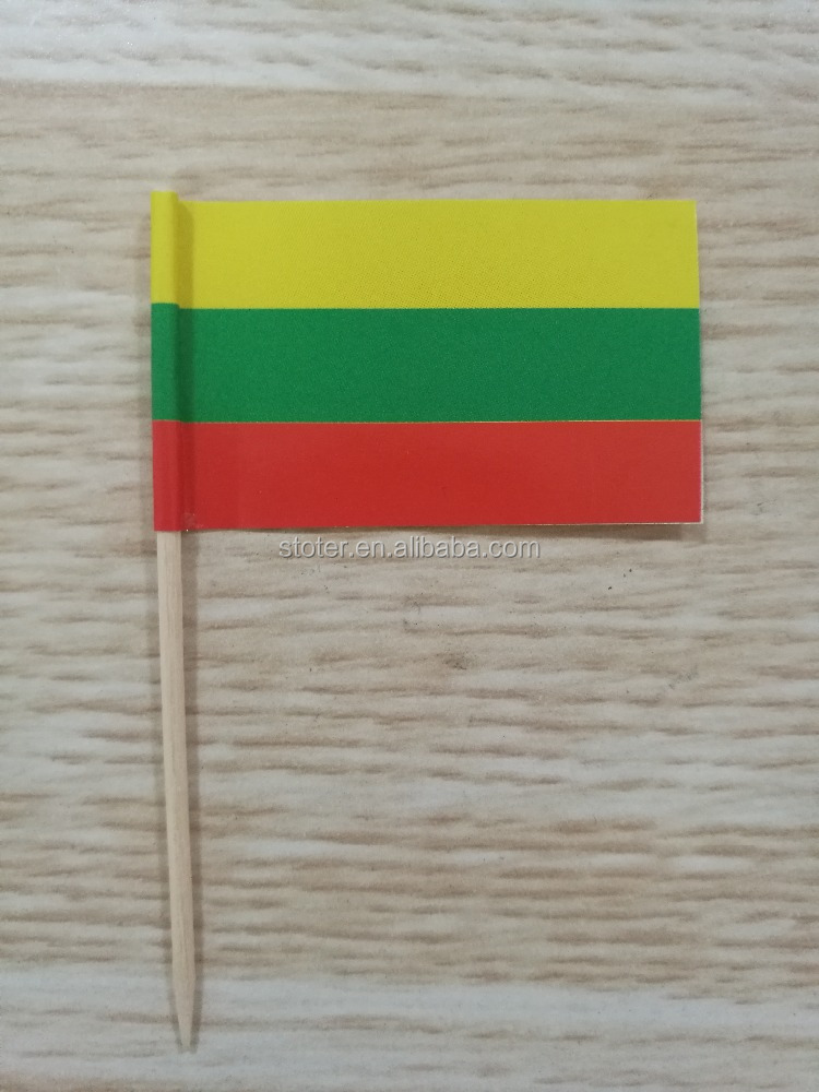 Cheap tooth pick flag paper hand waving flag