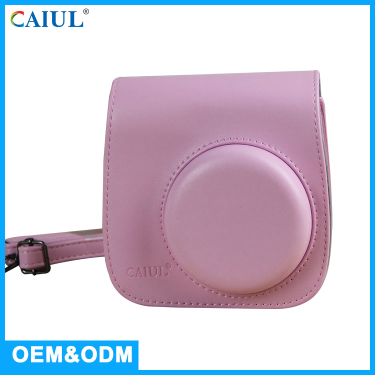 CAIUL for Fuji polaroid instant camera mini8+/mini8 accessories strawberry PU Leather bag for instax