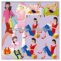fashion design printed taffeta fabric