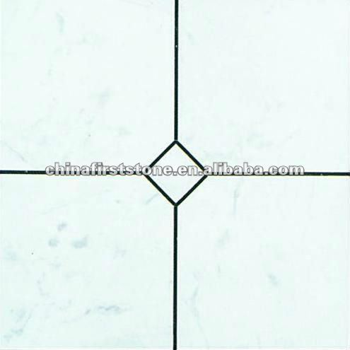 White Marble Laminate Tile M4B&W-T5