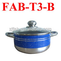 Hot Sale Stainless Steel Ears and Knob Aluminum Non-stick Casserole