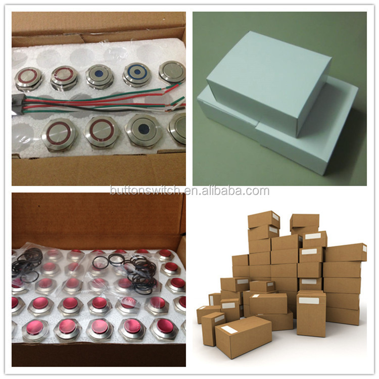 on off led metal stainless pushbutton switch waterproof knob switch