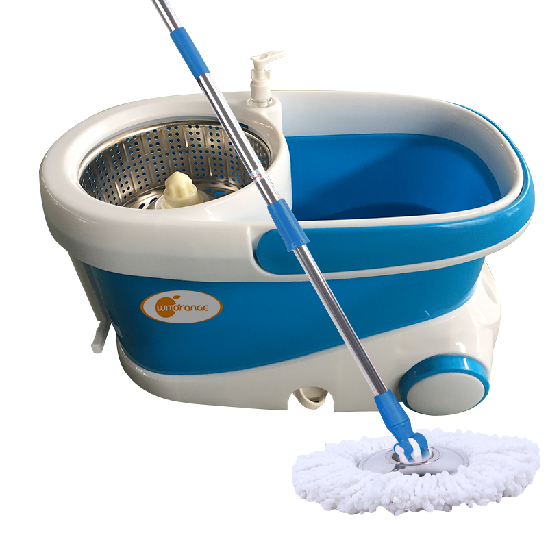Witorange PP Mop Head Material and Telescopic Handle Type magic Mop Bucket No Foot Pedal with wheel