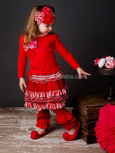 Top Quality Teen Girls Christmas Wear 3Pcs Cheap Outfit Baby Winter Clothes Girls Cotton Outfit