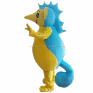 Hand made walking human size seahorse mascot costume fit adult sea horse mascot costume