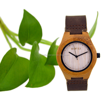import bamboo watch China factory promotional lover cute couple watch