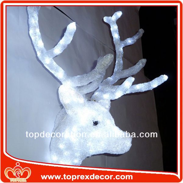Xmas Decoration alloy deer head pendant