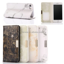 4 Colors Sample Available Marble Pattern Leather wallet phone case for iphone 7 7 plus 6 6 plus