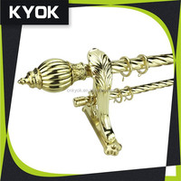 KYOK 2015 curtain rod accesssories glass finials, dia 28mm ceiling mount curtain track
