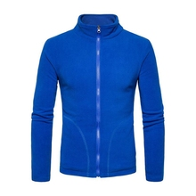 XH097 Blank <strong>sport</strong> zip up fleece tracksuit jacket microfiber polyester soft for men in stock / oem custom
