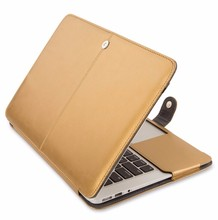"15.4"" handbag for macbook Premium Leather Sleeve Case For Apple Macbook air 13.3"""