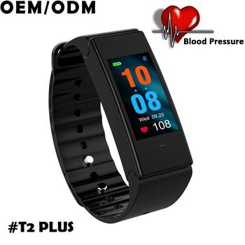 2018 color screen swimming waterproof IP67 heart rate blood pressure watch fitness bracelet