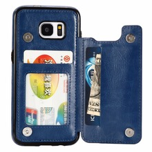 2018 Mobile Phone Leather Flip Case Hard Case For Samsung Galaxy S5 S6 S7/S7+ S8/S8+