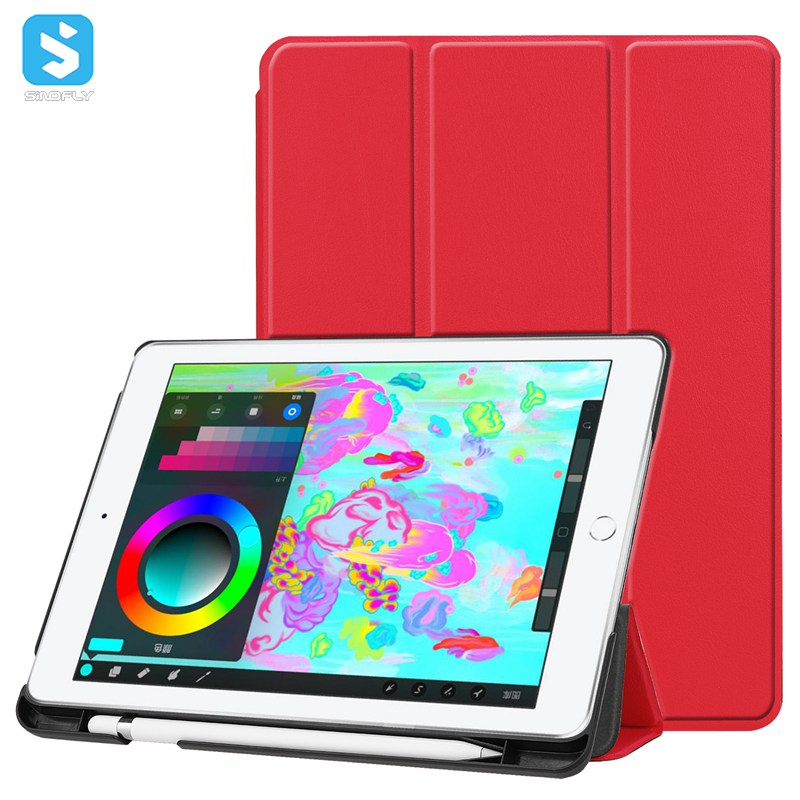Triple Folding PU Leather Case for iPad 9.7