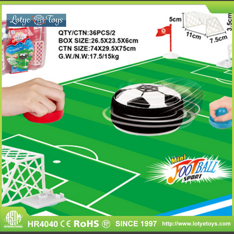 Mini hockey set toy air hover soccer ball for kids