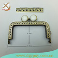 2015 latest metal frame for purse with coins white gems