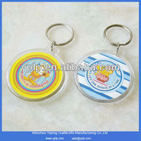 Hot style custom clear plastic acrylic keychain key chain wholesale for promotional items