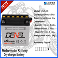 12v Storage Battery 12n5-3b motorcycle battery dry charged 5ah