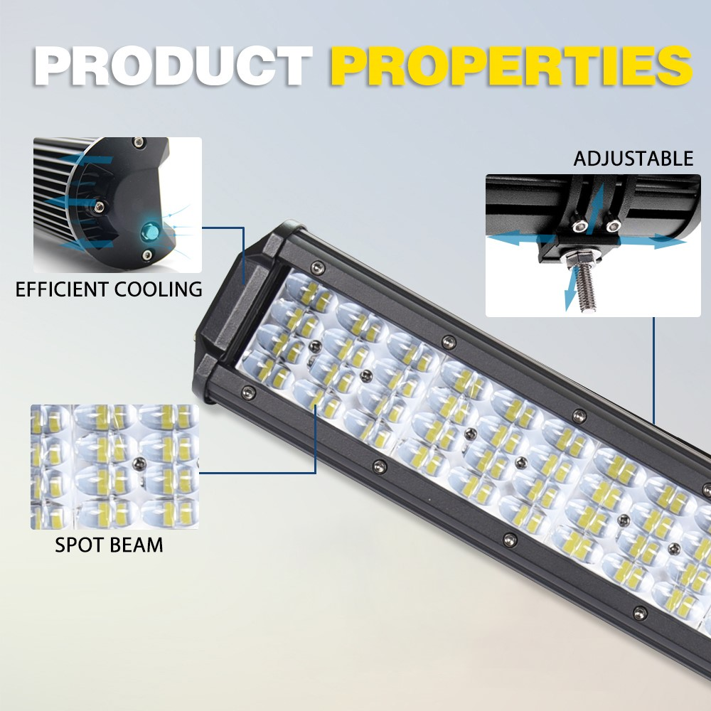 LED lumière de travail barre LED lampe de conduite pour voitures 4 pouces 7 pouces 22 pouces 32 pouces LED bar