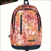"assoted color 18"" fabric dry backpack day packs fashion printed"